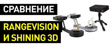 Сравнение 3D-сканеров RangeVision Neo, Shining 3D EinScan SE и EinScan SP