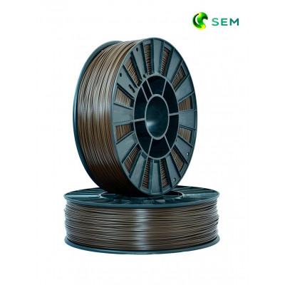 ABS пластик 1,75 SEM коричневый 0,95 кг