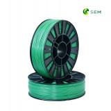PLA пластик 1,75 SEM зеленый металлик 0,8 кг