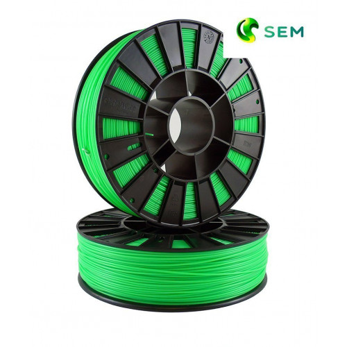 ABS пластик 1,75 SEM флуоресцентный зеленый 0,8 кг