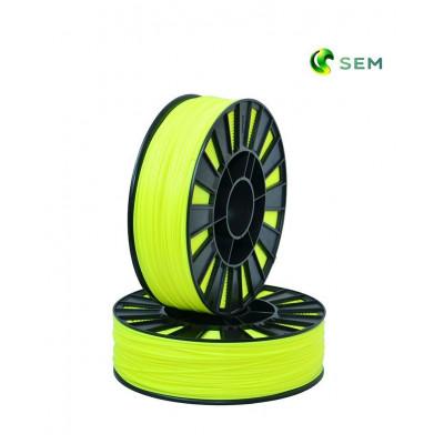 ABS пластик 1,75 SEM флуоресцентный лимонный 1 кг