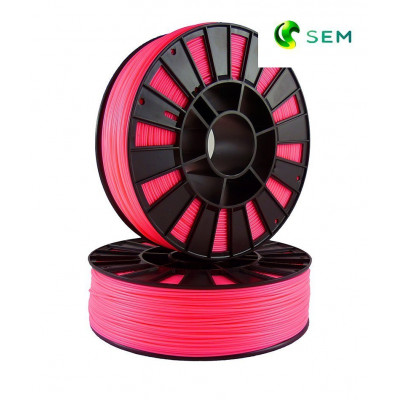 ABS пластик 1,75 SEM флуоресцентный розовый 1 кг