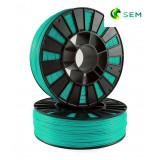 PLA пластик 1,75 SEM зеленая бирюза 0,8 кг