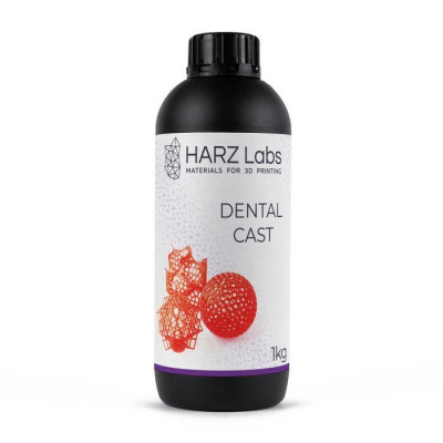 Фотополимер HARZ Labs Dental Cast LCD/DLP 1 л красный