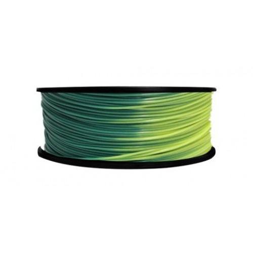 PLA пластик FL-33 1,75 зелено-желтый 1 кг
