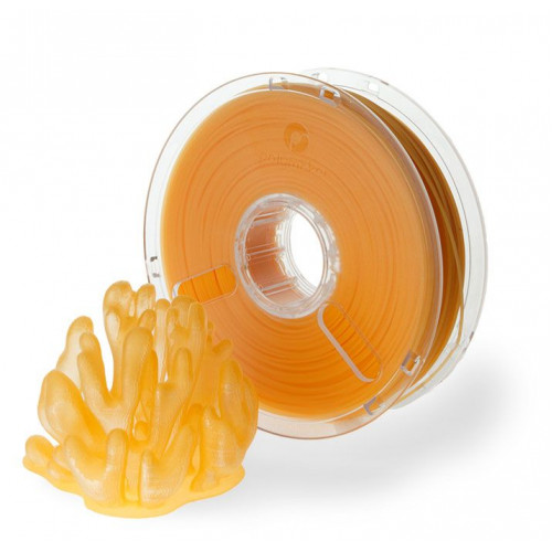 Пластик PolyPlus PLA 1,75 оранжевый прозрачный 0,75 кг