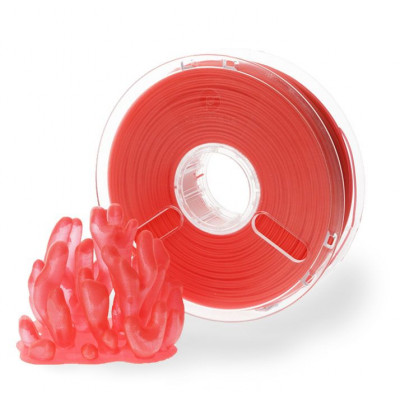 Пластик PolyPlus PLA 1,75 красный прозрачный 0,75 кг
