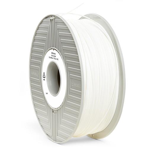 PLA пластик 1,75 Verbatim белый 1 кг