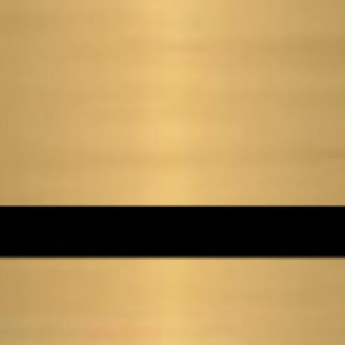 Пластик для гравировки Standard Metals 3.0 мм золото матовое/чёрный
