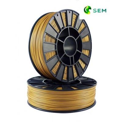 PLA пластик 1,75 SEM золотой (металлик)