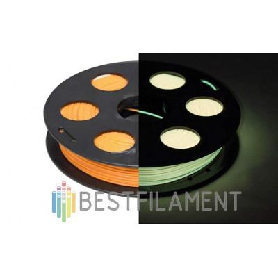 PLA пластик BestFilament 1,75 мм Светящийся в темноте. Лимонный 0,5 кг