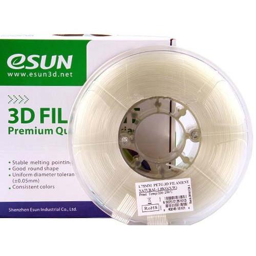 Color Change пластик ESUN 3 мм, натуральный-красный 1 кг