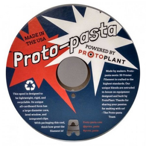 PLA Proto-pasta композитный 2,85 мм полированная нержавеющая сталь 0,5 кг