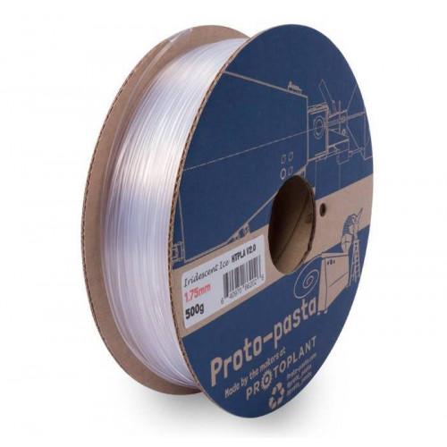 HTPLA Proto-pasta v2 1,75 мм Iridescent Ice прозрачный 0,5 кг