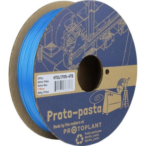 HTPLA Proto-pasta 1,75 мм Winter Blue голубой блестящий 0,5 кг