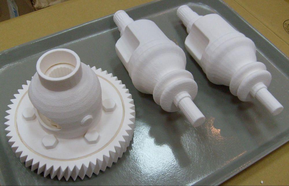 Прототипы деталей, распечатанные на 3D-принтере