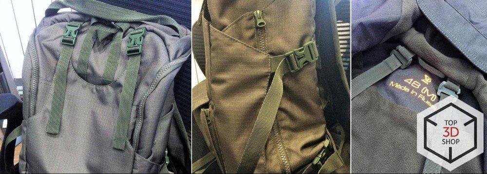 Прототипы креплений для рюкзаков, распечатанные на 3D-принтере