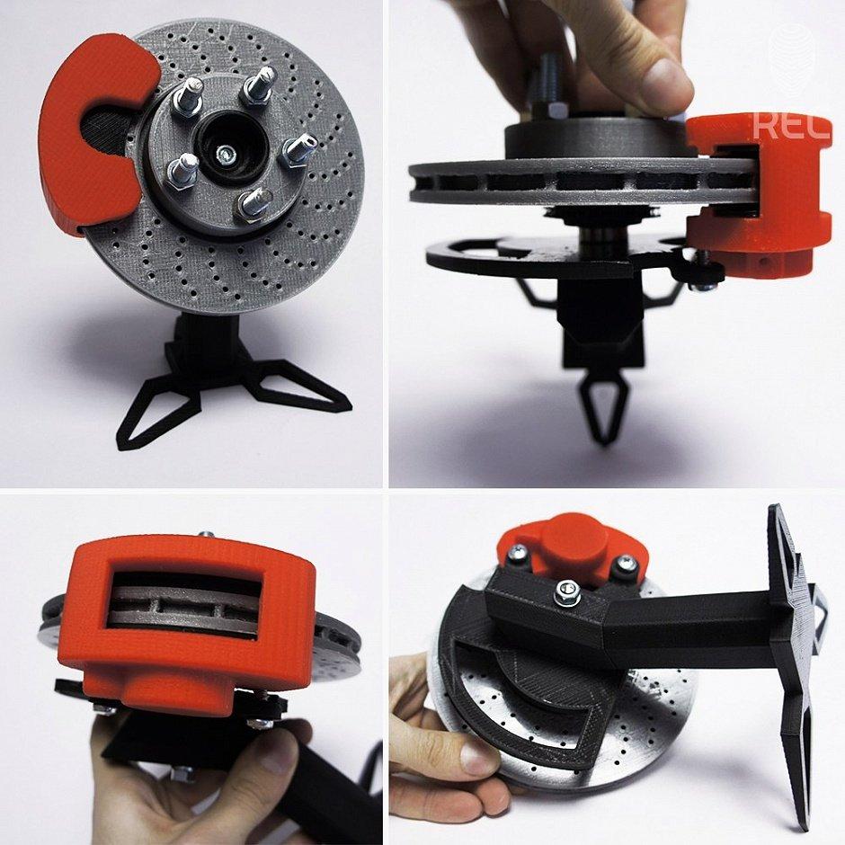 Прототип тормозного суппорта распечатанный на 3D-принтере