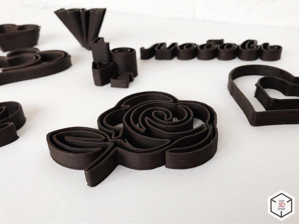 Примеры печати на шоколадном 3д принтере