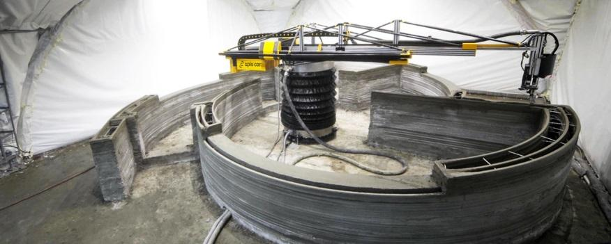 Строительный 3D-принтер на основе манипулятора