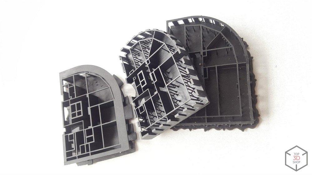 Детали архитектурного макета напечатанного на 3D принтере по технологии SLA