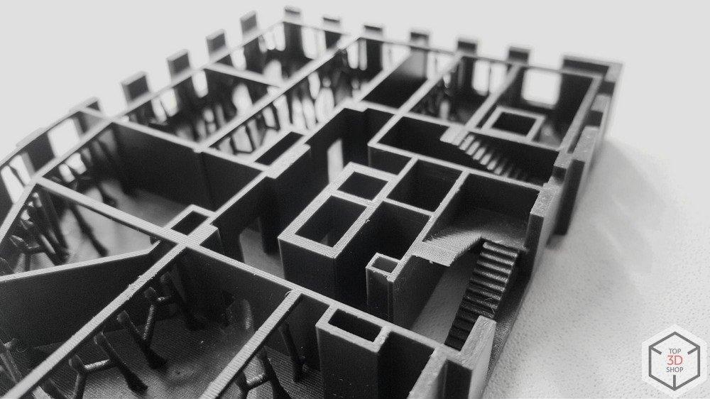 Элемент архитектурного макета напечатанного на 3D принтере по технологии SLA