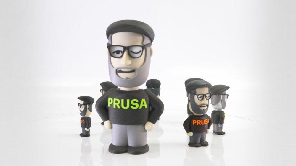 Пример печати 3D-принтера Original Prusa I3, снабженного MMU