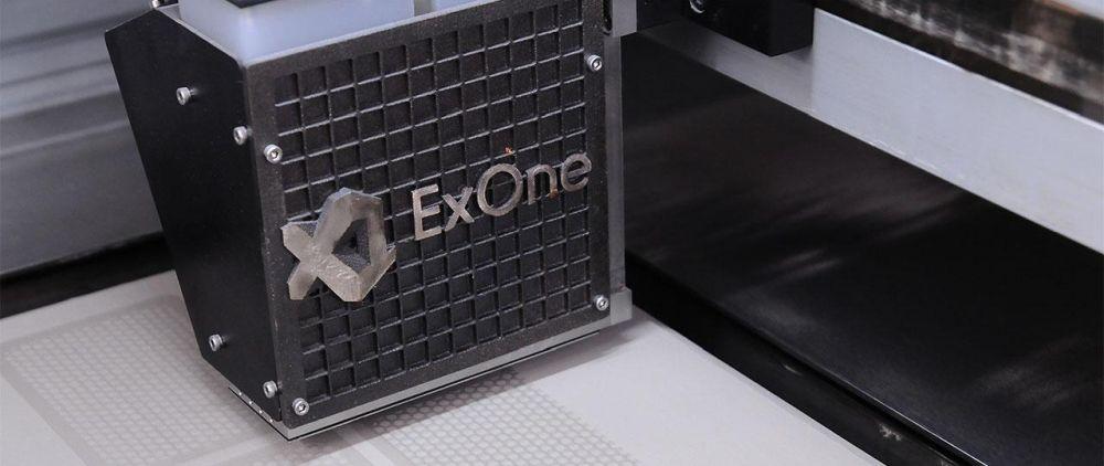 Изображение работы принтера ExOne
