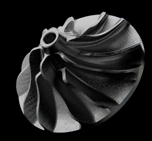 Крыльчатка напечатанная Markforged Metal X