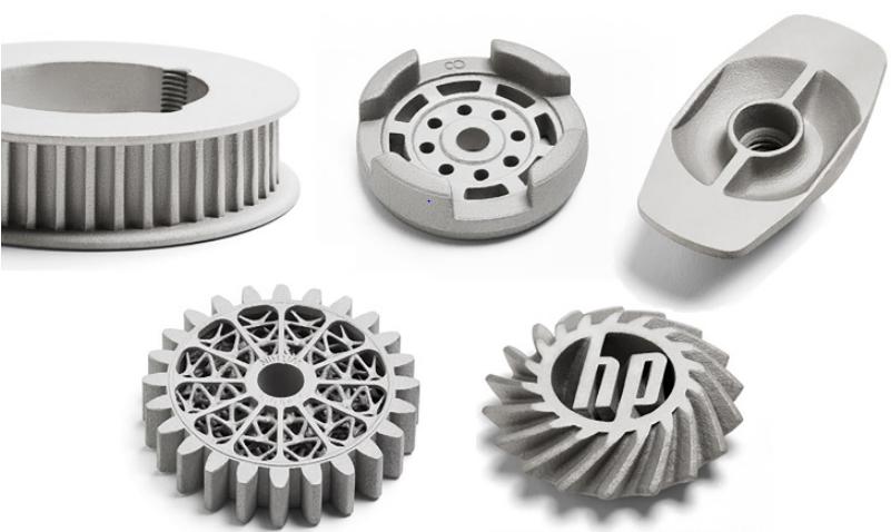 Примеры изделий напечатанные на принтере HP Metal Jet printer