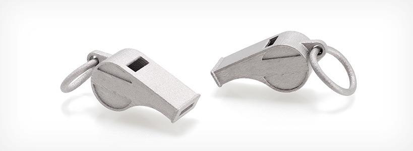 Свистки напечатанные 3D-принтером для печати металлами DIGITAL METAL DM P2500