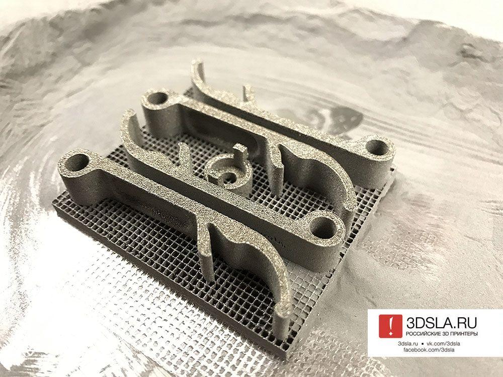Деталь напечатанная 3D-принтером для печати металлами RussianSLM 250