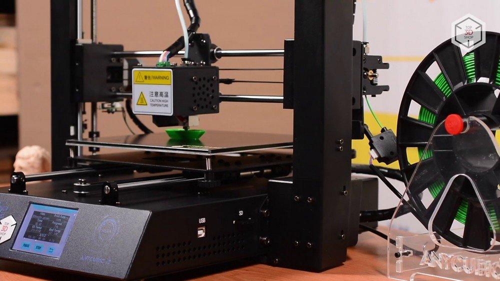 Работа 3D-принтера Anicubic I3 Mega