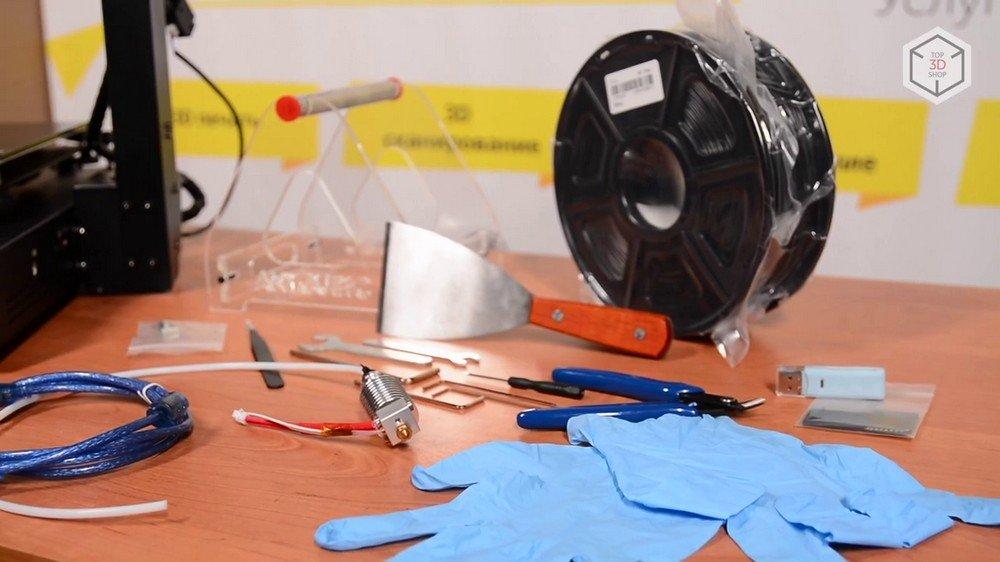 Комплектация 3D-принтера Anicubic I3 Mega