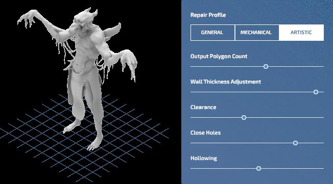 лечение 3д моделей makeprintable