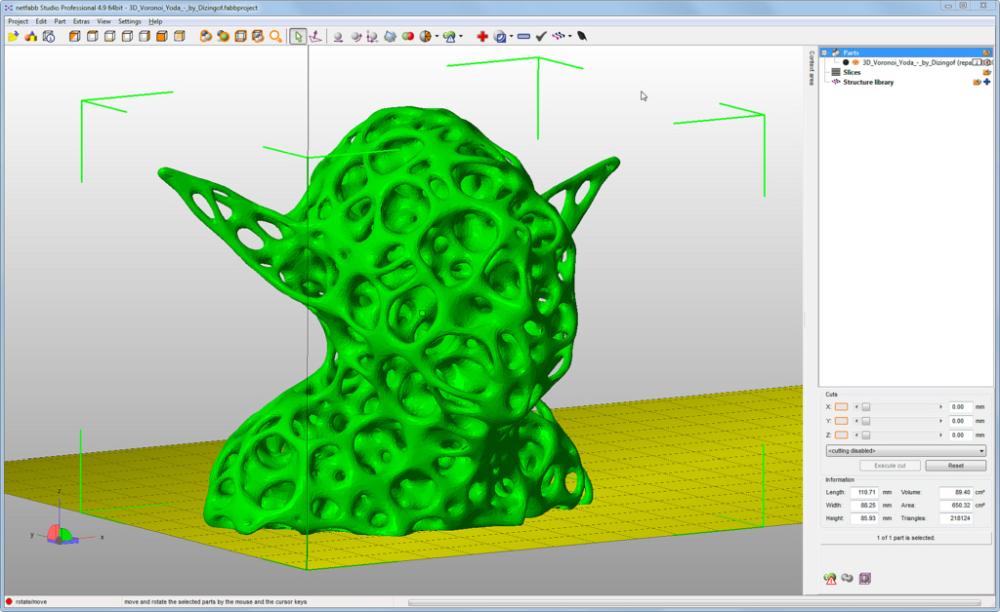 3d моделирование на Netfabb