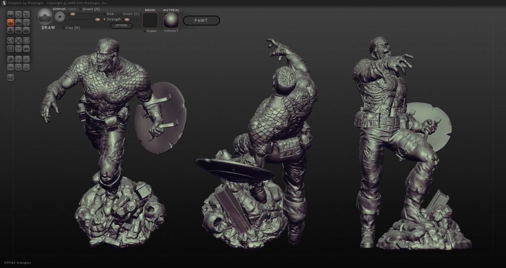 3д моделирование на ПО Sculptris
