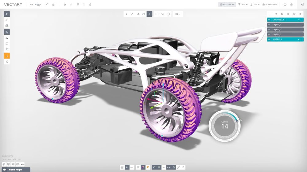 3D-моделирование на Vectary