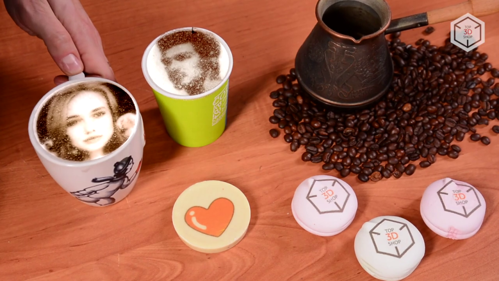 Примеры печати на принтере Cafe Maker