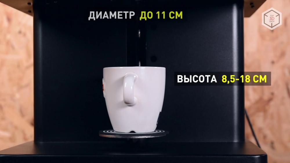Требования к размерам емкостей для печати на Cafe Maker