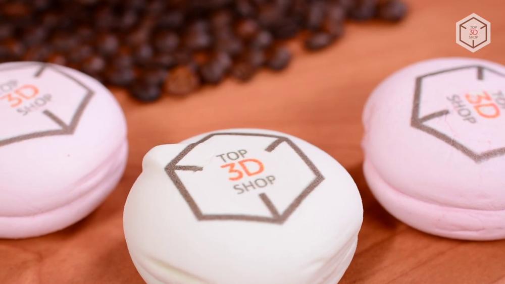 Пример печати на печенье принтером Cafe Maker