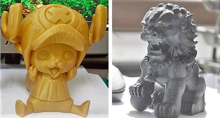 Примеры печати на 3D-принтере Tevo Michelangelo