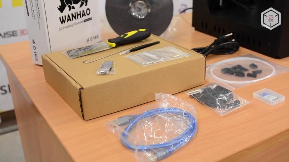Комплект поставки Duplicator 6 катушка с пластиком, набор инструментов, USB-шнур, SD-карта и картридер