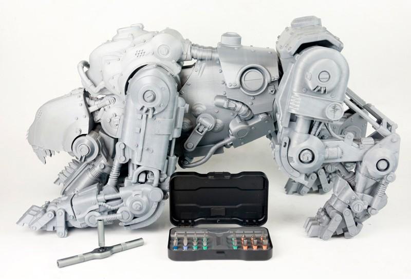3D печать игрушки робота на принтере Wanhao D12 300