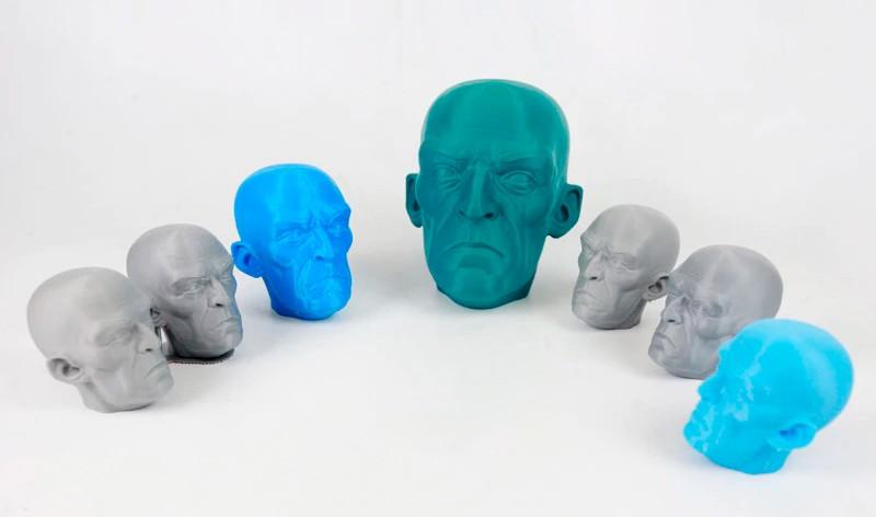 3D печать пластиковых фигурок на принтере Wanhao d12 300