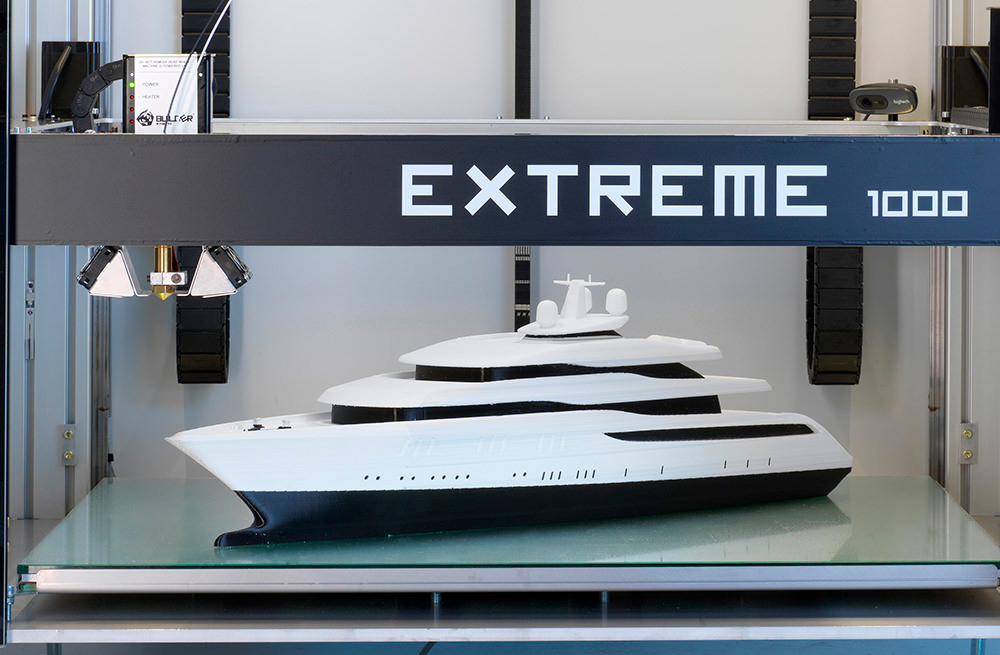 Корабль на 3D-принтере Builder Extreme 1000 PRO