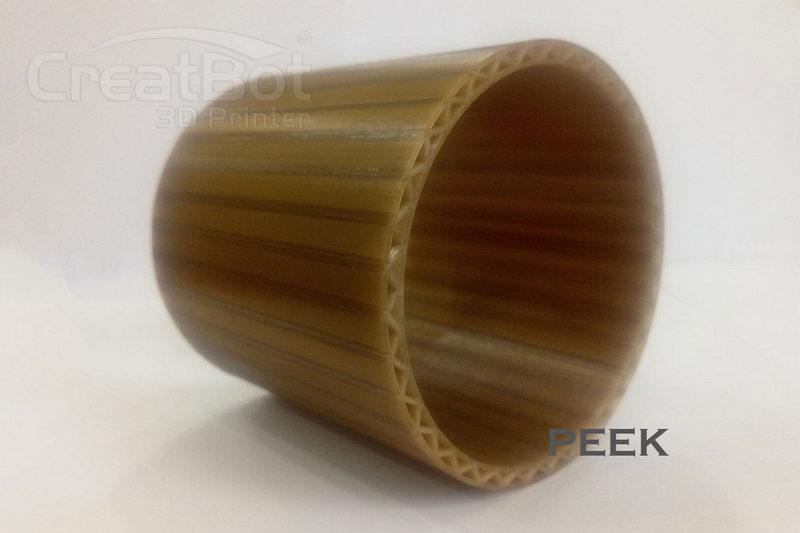 гладский цилиндр, напечатанный материалов PEEK