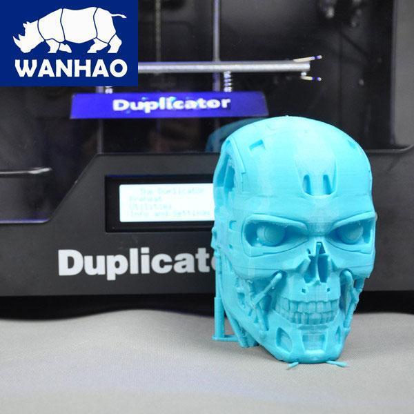 Wanhao Duplicator 4S напечатал череп терминатора