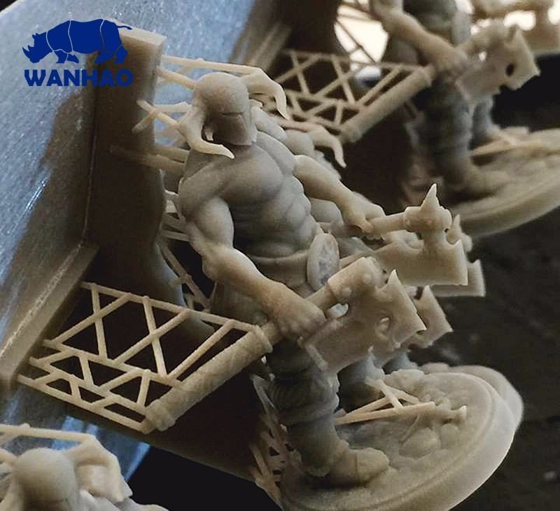 фигурка воина, напечатанная на принтере Wanhao