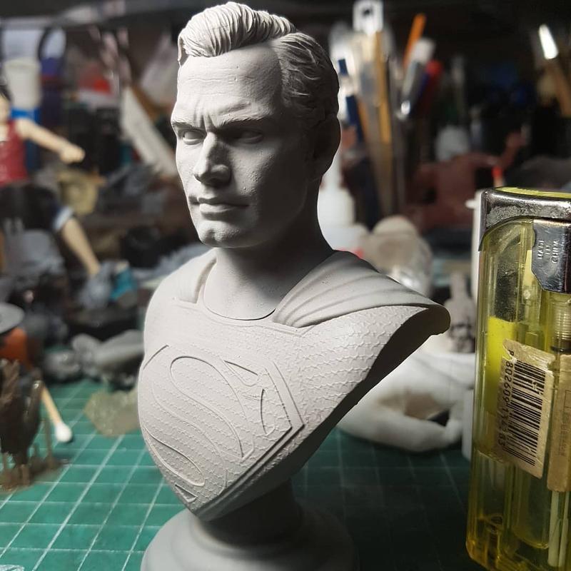 бюст человека, созданный 3D принтером Wanhao Duplicator 8 (D8)